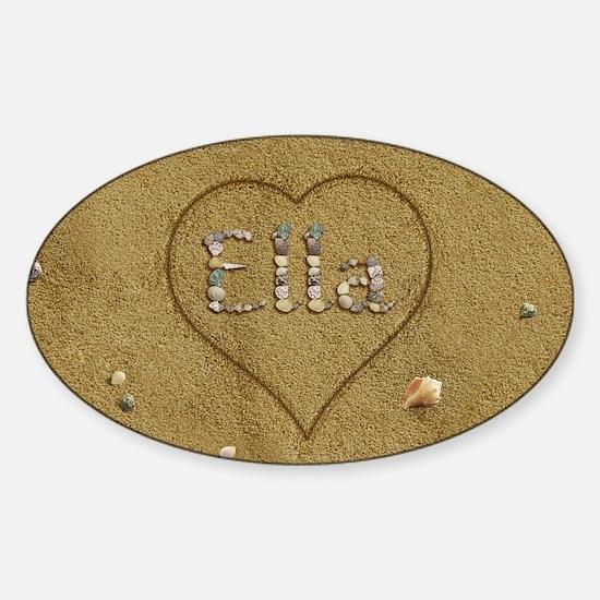 Ella Beach Love Sticker (Oval)