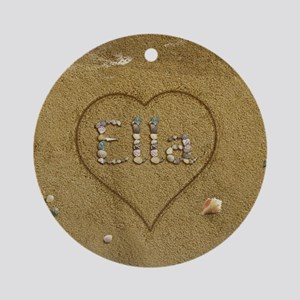 Ella Beach Love Ornament (Round)