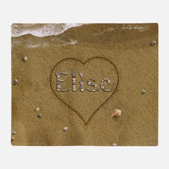 Elise Beach Love Throw Blanket