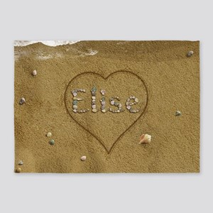 Elise Beach Love 5'x7'Area Rug