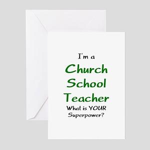 church school teacher Greeting Cards