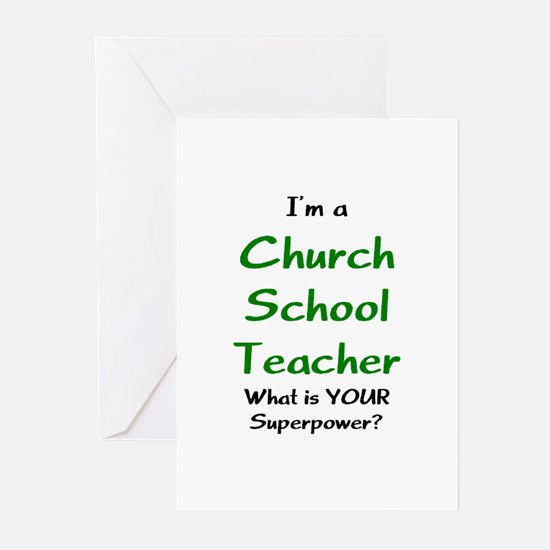 church school teacher Greeting Cards