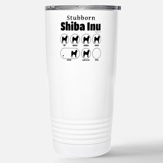 Stubborn Shiba Inu 2 Stainless Steel Travel Mug