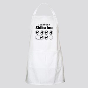 Stubborn Shiba Inu 2 Apron