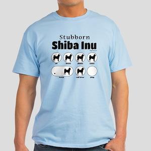 Stubborn Shiba Inu 2 Light T-Shirt