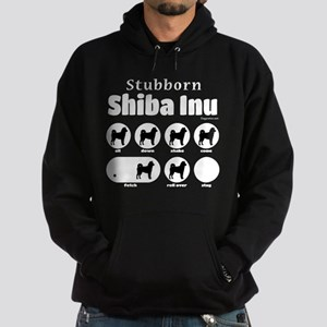 Stubborn Shiba Inu 2 Hoodie (dark)