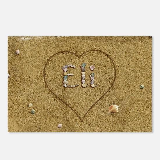 Eli Beach Love Postcards (Package of 8)