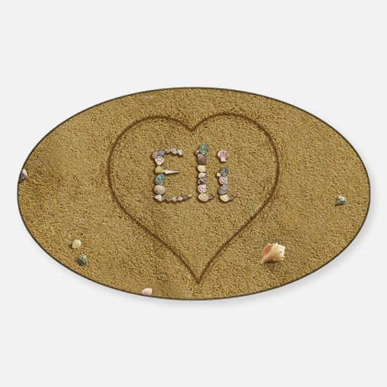 Eli Beach Love Sticker (Oval)