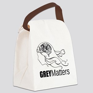 Grey Matters  Canvas Lunch Bag