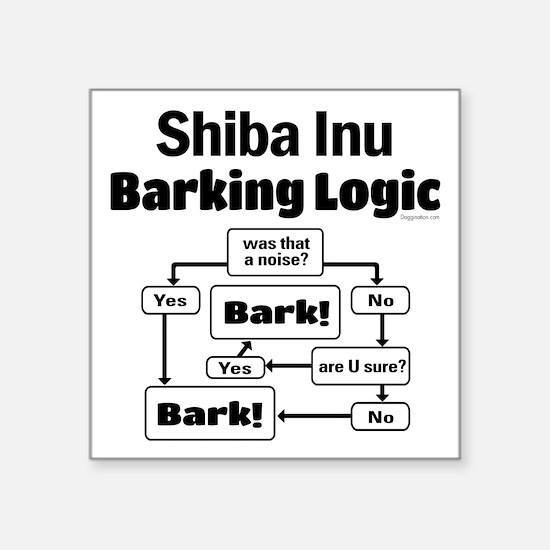 """Shiba Inu Logic Square Sticker 3"""" x 3"""""""
