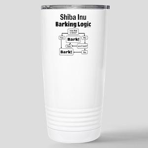 Shiba Inu Logic Stainless Steel Travel Mug