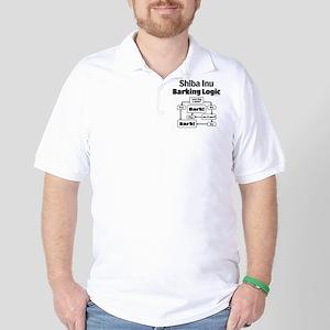 Shiba Inu Logic Golf Shirt