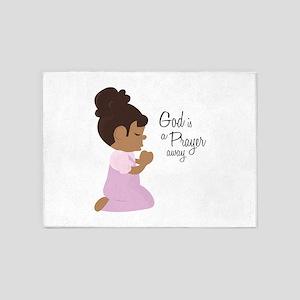 God Is A Prayer Away 5'x7'Area Rug