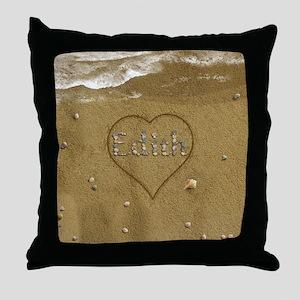 Edith Beach Love Throw Pillow