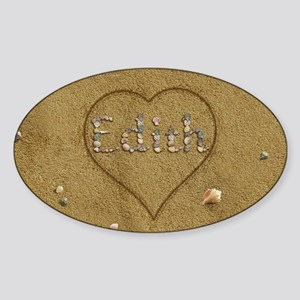 Edith Beach Love Sticker (Oval)