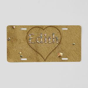 Edith Beach Love Aluminum License Plate
