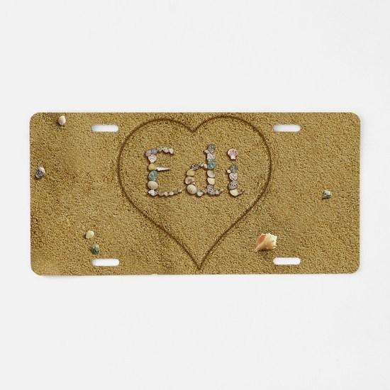 Edi Beach Love Aluminum License Plate