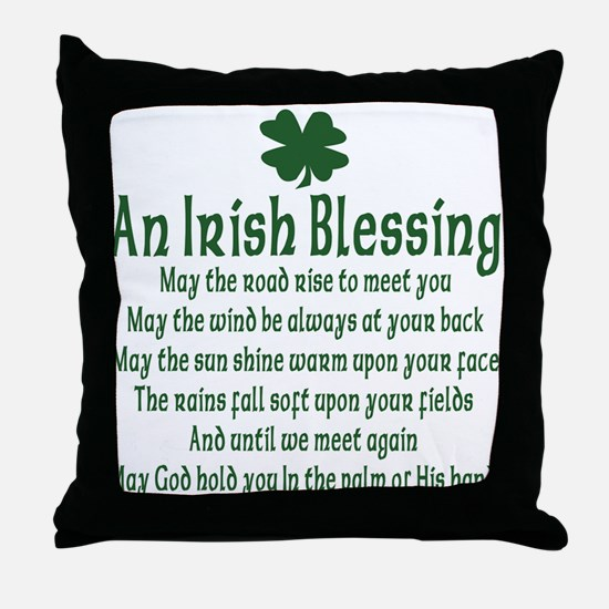 Irish Blessing Throw Pillow
