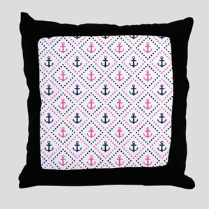 Diamond Anchor NP Throw Pillow