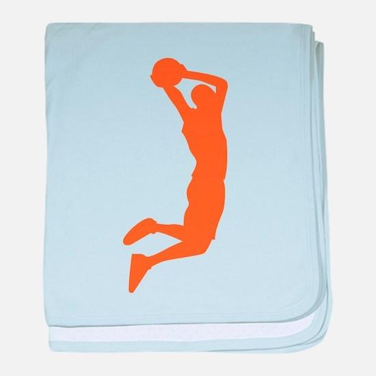 Slam Dunk Orange baby blanket