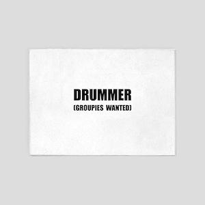 Drummer Groupies 5'x7'Area Rug