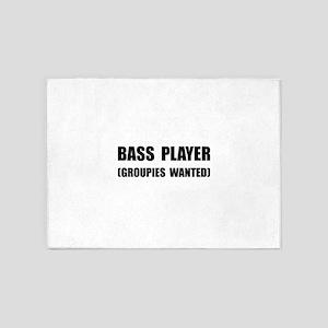 Bass Player Groupies 5'x7'Area Rug
