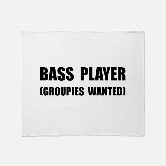 Bass Player Groupies Throw Blanket