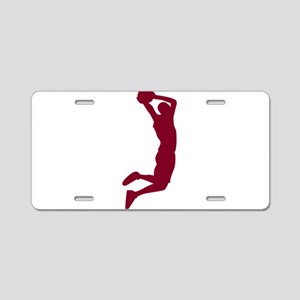 Slam Dunk Garnet Aluminum License Plate