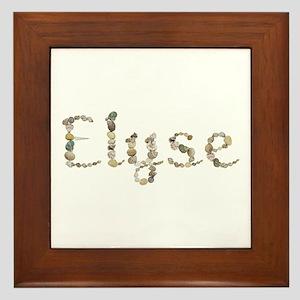Elyse Seashells Framed Tile