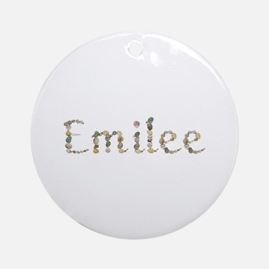 Emilee Seashells Round Ornament
