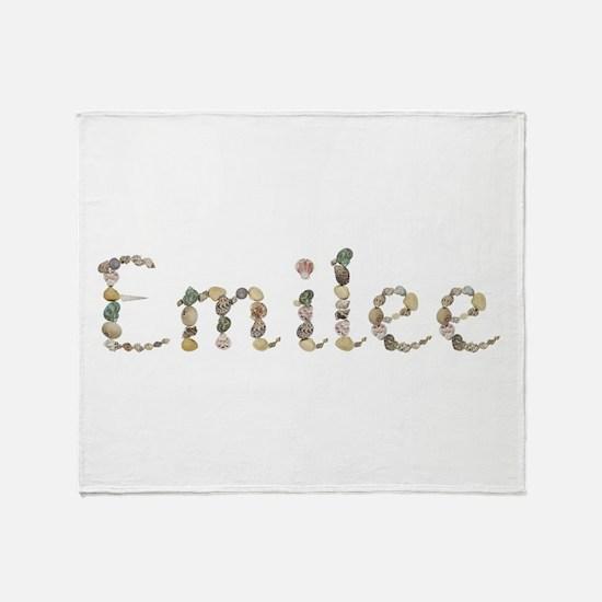 Emilee Seashells Throw Blanket