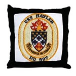 USS HAYLER Throw Pillow