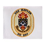 USS HAYLER Throw Blanket