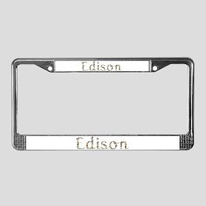 Edison Seashells License Plate Frame