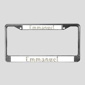 Emmanuel Seashells License Plate Frame