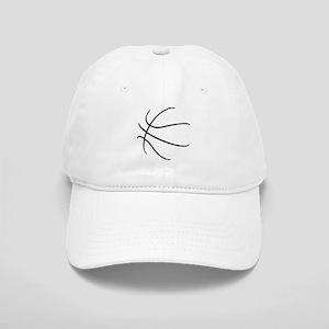 Basketball Ball Lines Black Cap