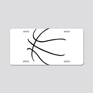 Basketball Ball Lines Black Aluminum License Plate