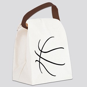 Basketball Ball Lines Black Canvas Lunch Bag