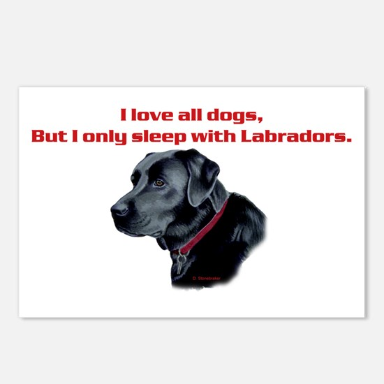 Sleep with Labradors Postcards (Package of 8)