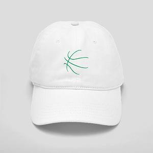Basketball Ball Lines Green Cap
