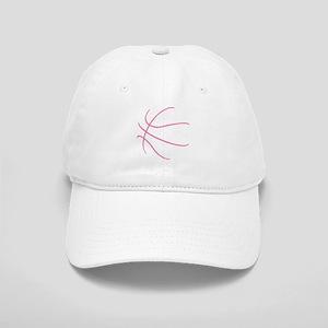 Basketball Ball Lines Pink Cap