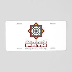 Buddhism Eightfold Path Aluminum License Plate