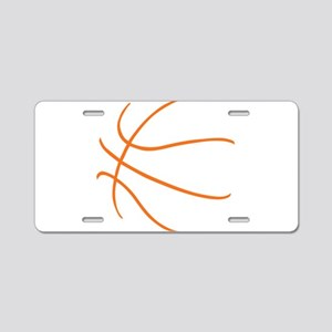 Basketball Ball Lines Orang Aluminum License Plate