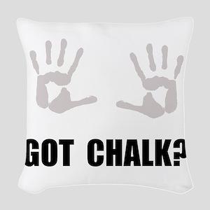 Got Chalk Woven Throw Pillow