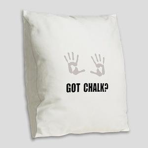 Got Chalk Burlap Throw Pillow