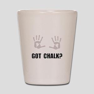 Got Chalk Shot Glass