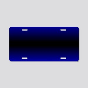 Electric Blue Aluminum License Plate