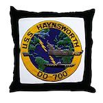 USS HAYNSWORTH Throw Pillow