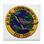 USS HAYNSWORTH Tile Coaster