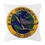 USS HAYNSWORTH Woven Throw Pillow